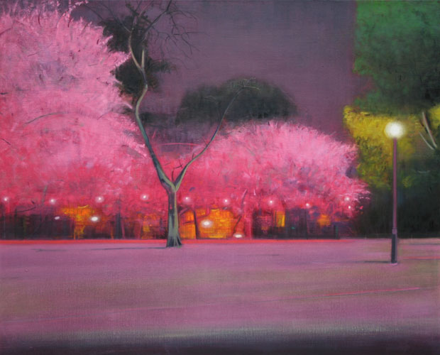 Cherry Trees Painting