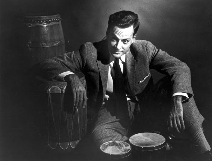 Richard Feynman with Bongos and Drums