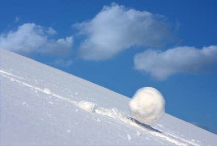 Snowball on its way to become an avalanche
